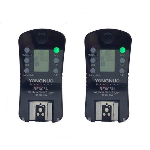 Yongnuo RF-605 RF-605N rf605n disparador do flash sem fio para nikon d7100 d7000 d5200 d5100 d3000 d90 d80 d70 d70s d40 d800e d800