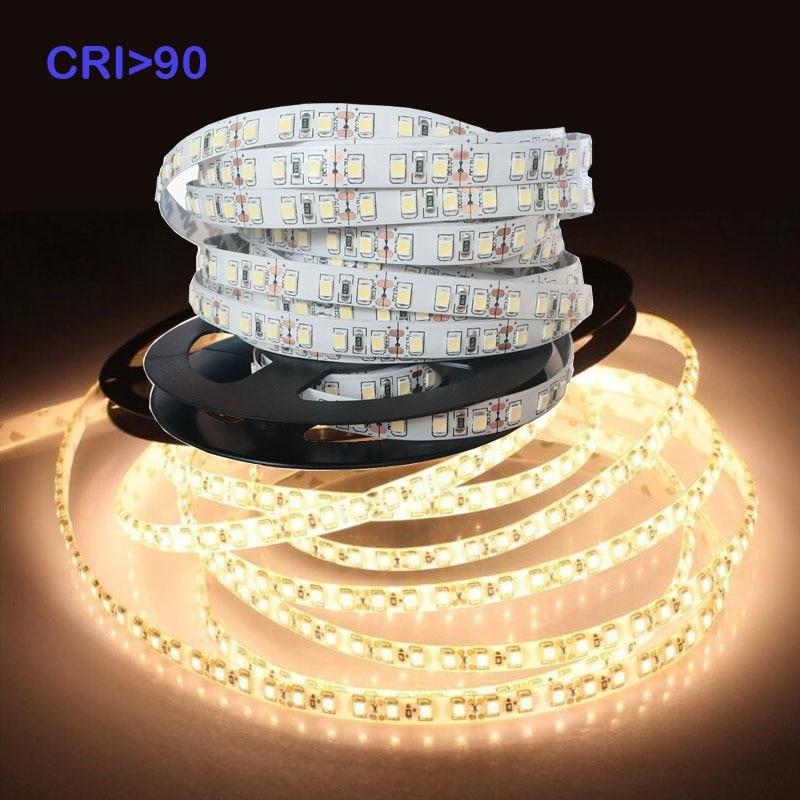 Alta CRI> 90 + Ra blanco cálido 12V LED tira de luz 5m 0,2 W SMD 2835 LED 5 m/rollo