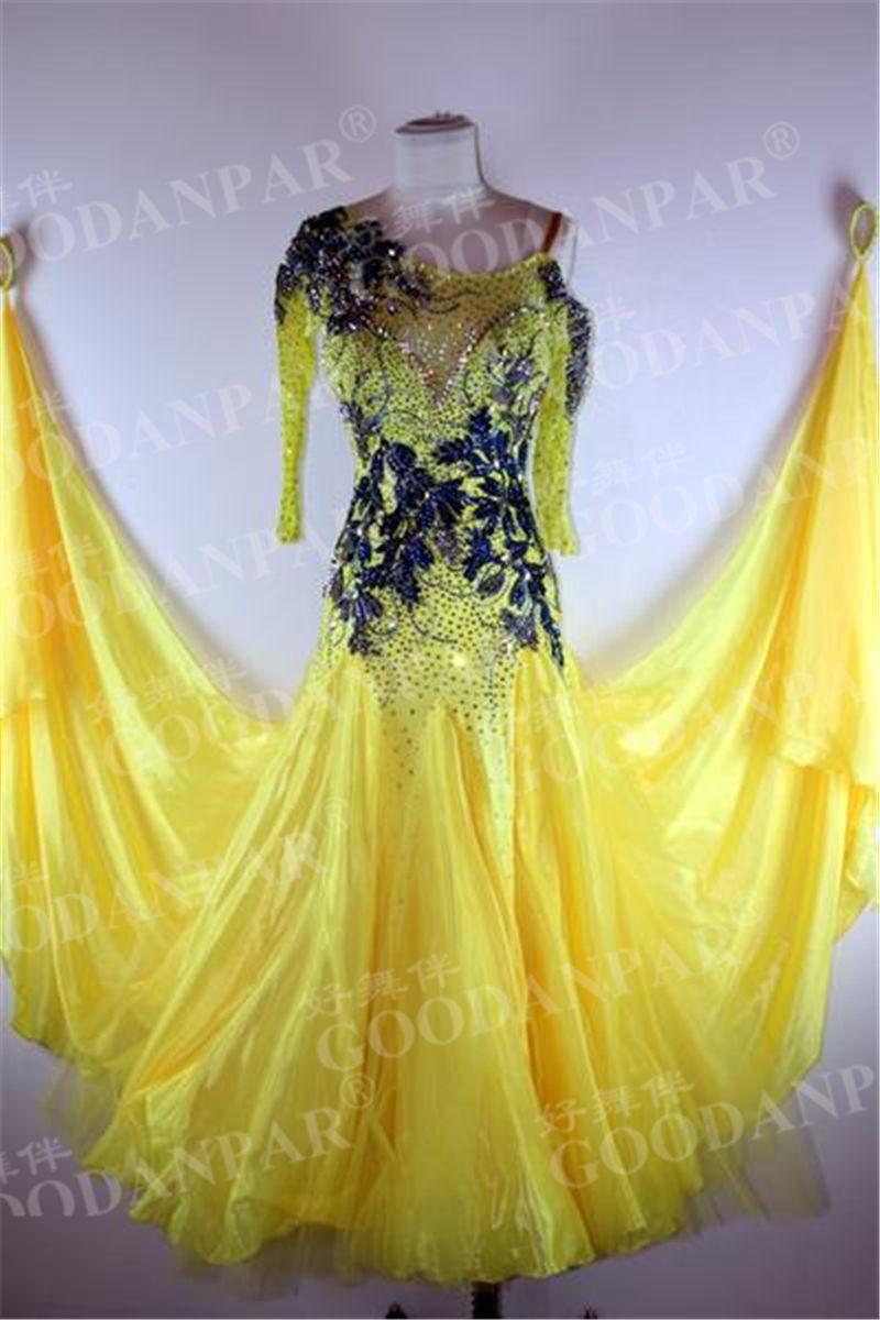 GOODANPAR-فستان رقص بأكمام طويلة ، للنساء ، توب هالتر ، نمط فراشة ، ملابس رقص الفالس ، زي Tango