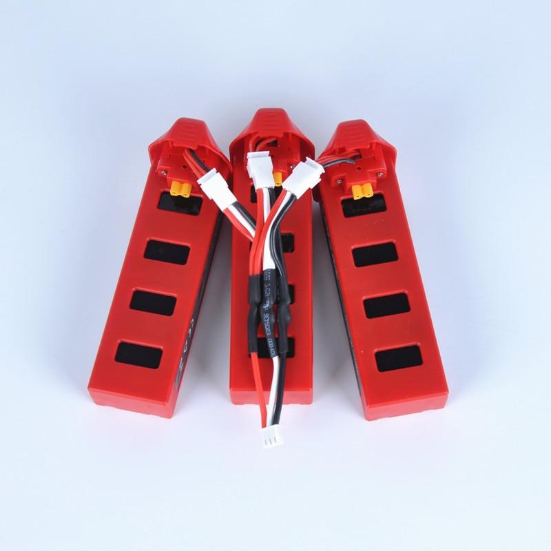 MJX bichos 2 Batería MJX B2C B2W 7,4 V 1800 mAh 25C Lipo batería para MJX B2W con 3in1 cargador cable RC partes helicóptero batería