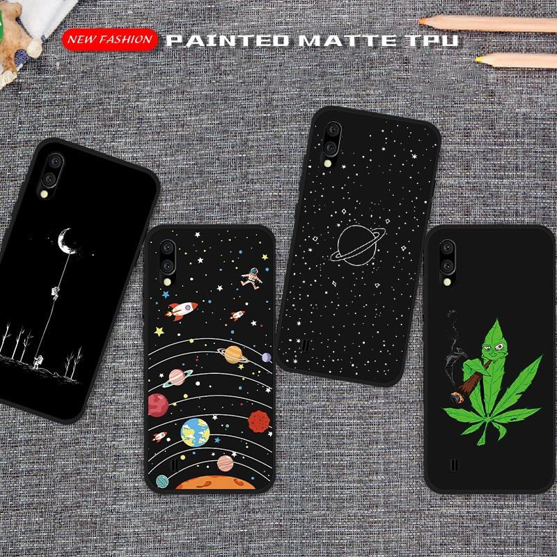 Carcasa de teléfono TPU mate pintado para Samsung Galaxy A10, A20, A30, A40, A50, A60, A70, A 50, carcasa trasera para Samsung M10, M20 y M30