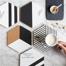 Tasse en liège épaissie créative   Sous-verre café thé sous-verres Pot tapis de plat, napperon de cuisine coussin bol décor maison accessoires de Table