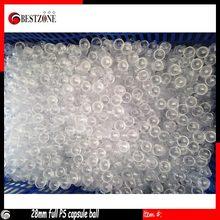 Trasporto libero di Promozione di vendita 200 pz 28mm pieno trasparente capsule giocattolo; Childish bella palle plaing con ranbow colori