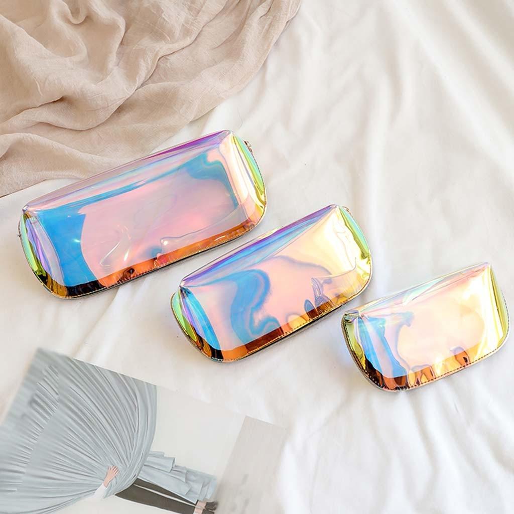 Bolsa de cosméticos transparente para mujer, pochette de almacenamiento, a la moda,...