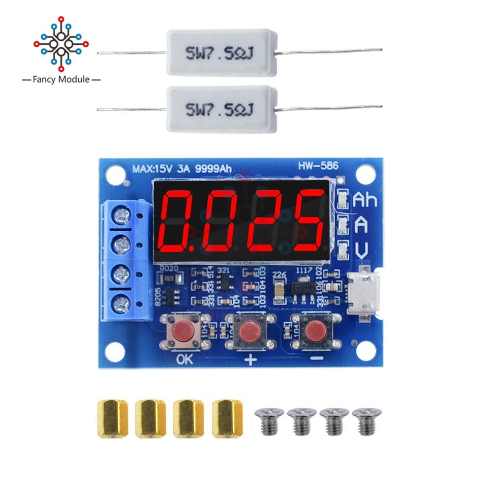 Тестер емкости литий-ионных батарей 1,2 в 12 В 18650 + измеритель емкости аккумулятора свинцово-кислотного сопротивления