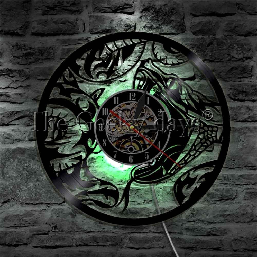1 pieza, reptil serpiente LED luces de pared arte de disco de vinilo Animal de Vida Silvestre de señal USB Lámpara de pared