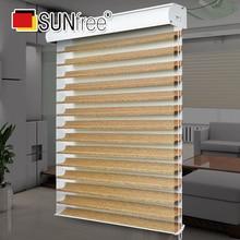 Fashion 50~90% shading rate Roller blinds shangri-la blinds Double layer blinds window decoration Custom size