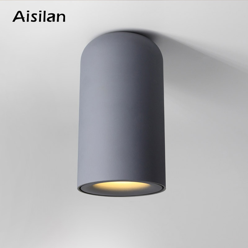 aisilan square led surface mounted cube ceiling downlight for room corridor hallway ac85 260v cob design spot light Aisilan Modern  LED down light Nordic ceiling light for bedroom living room corridor surface mounted AC85-260V  9W Black white