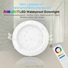 6 Вт RGB + CCT Водонепроницаемый светодиодный светильник s FUT063 IP54 220 В Встраиваемый светодиодный круглый потолочный светильник Точечный светильник для гостиной ванной комнаты