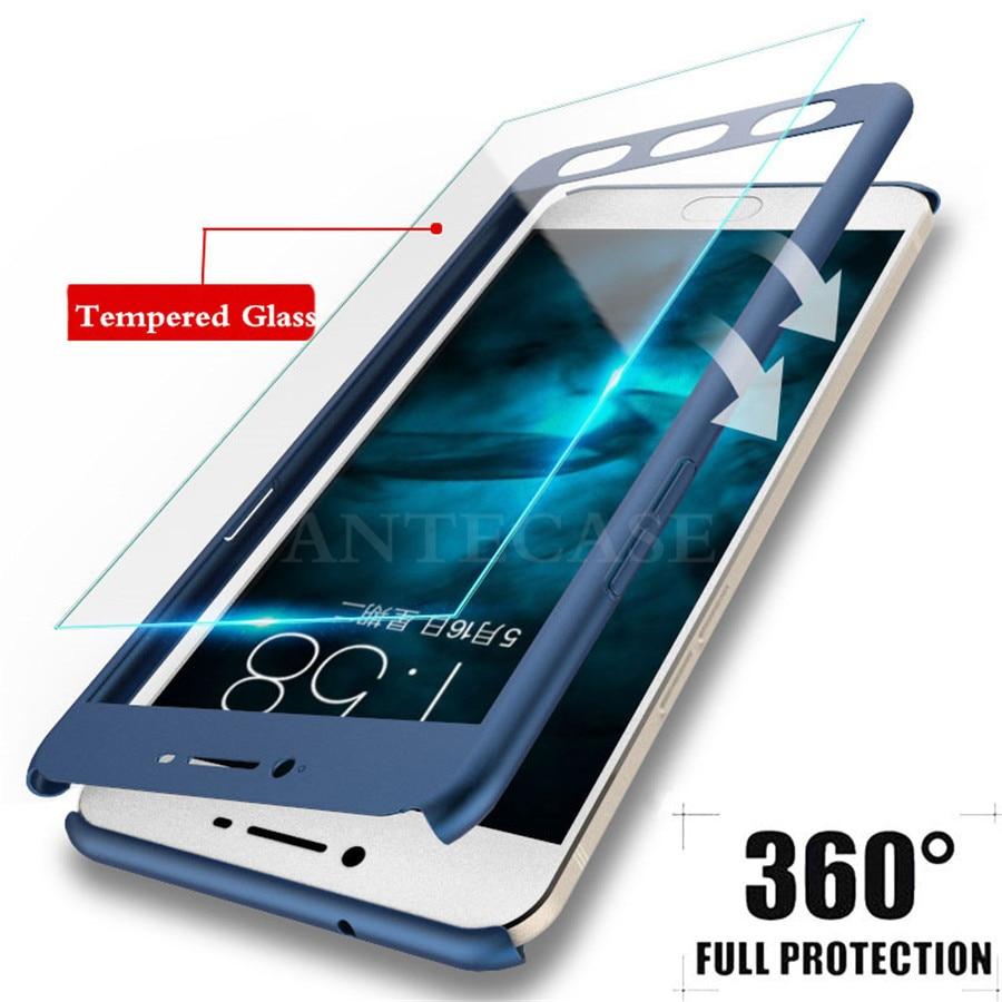 For Samsung Galsxy J3 J5 J7 2017 Case 360 Coque Samsung J3 J5 J7 2015 2016 J4 J6 2018 Full Cover Phone Case with Tempered Glass