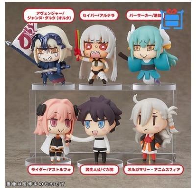 ¡Novedad! 6cm 6 unids/set Fate/Gran Orden FGO colección de figuras de acción juguetes regalo de Navidad con caja