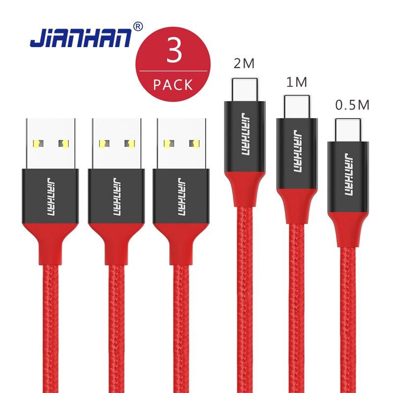 3 pacote usb tipo c cabo de carregamento rápido usb c para usb 3 um cabo de dados para samsung s8 xiaomi 5 nexus 6 p um mais 2 3 t lg g5 4c