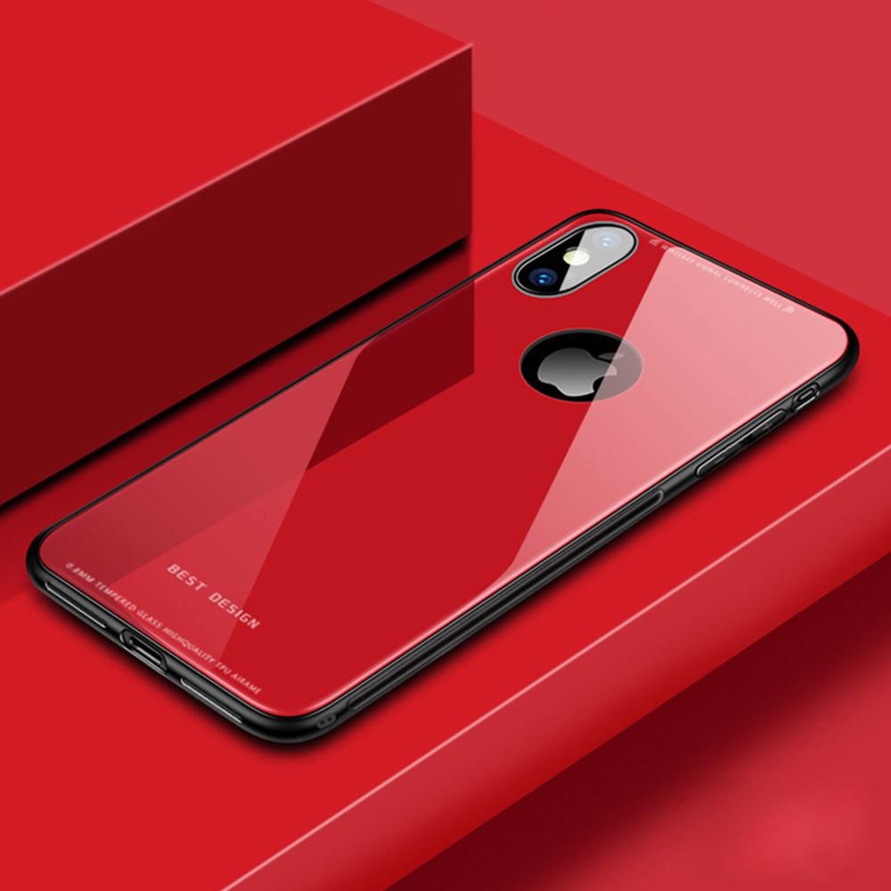 Szkło hartowane etui na telefony dla iPhone X X XS MAX 8 7 6 6 S Plus miękka TPU twardy futerał ochronny tylna pokrywa precyzyjne położenie otworu Capa