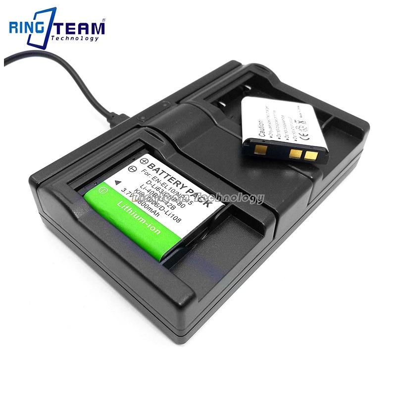 2x D-LI63 DLI63 LI63 Battery Pack & 1x Dual USB Charger for for Pentax Digital Cameras Optio V10 T30 M30 M40 W30 LS1000 LS1100