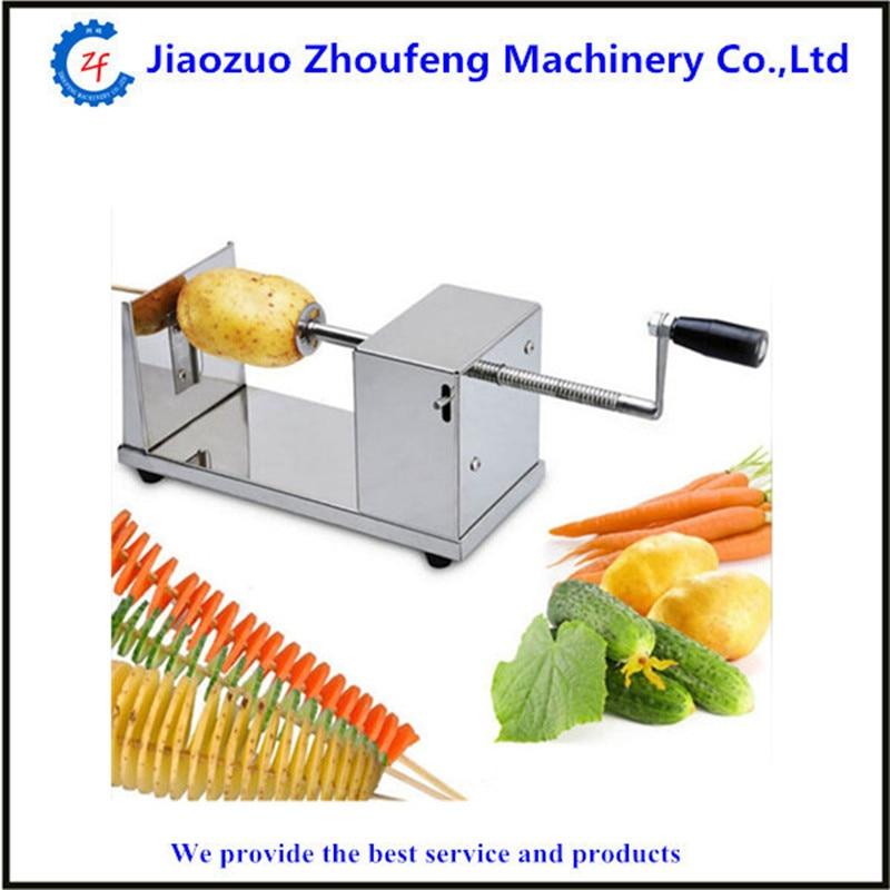 uso domestico manual de aco inoxidavel espiral cortador de batata cortador de batata