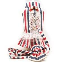 Платье-пачка принцессы для милой собаки, одежда для любителей собак, жилетка и поводок для маленьких домашних животных, ошейник и поводок дл...