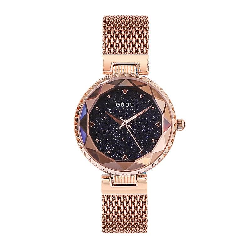 Top Brand Star Face Ladies Watch Women Fashion Rhinestone Casual Quartz Watch Female New Dress Watch Clock Stainless Steel Belt enlarge