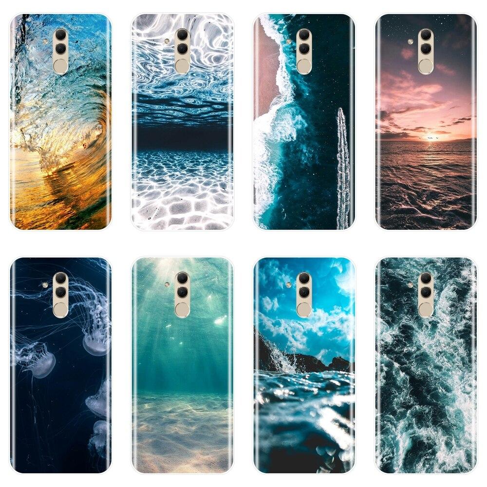 Caso de Huawei Mate 9 10 20 Pro onda océano Playa Mar genial de silicona suave de la contraportada para Huawei Mate 7 8 9 10 20 Lite teléfono caso