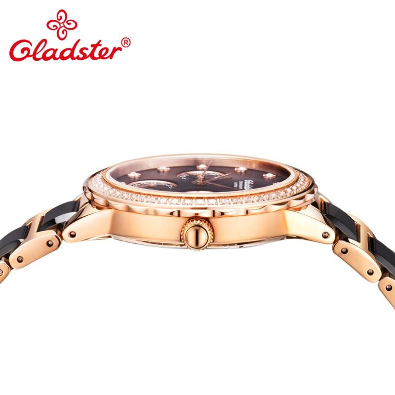 Gladster Japan Miyota Movement Sapphire Analog Female Clock Waterproof Ladies Dress Watch enlarge