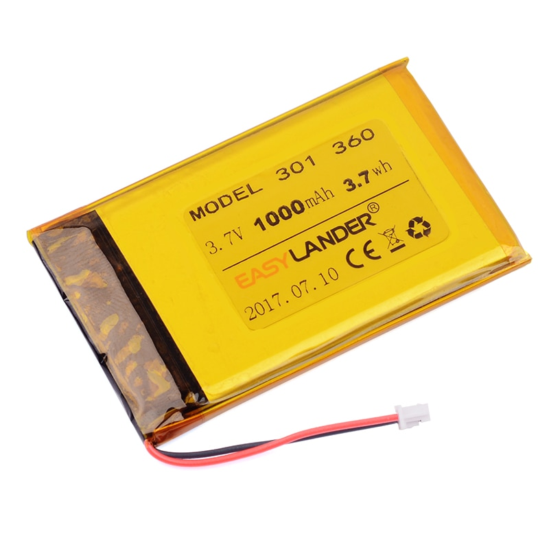 Replacement 3.7V 1000mAh Rechargeable Li-Polymer Battery For Pocketbook 360 301 601 301 plus E-book kobo ereader n647 n416