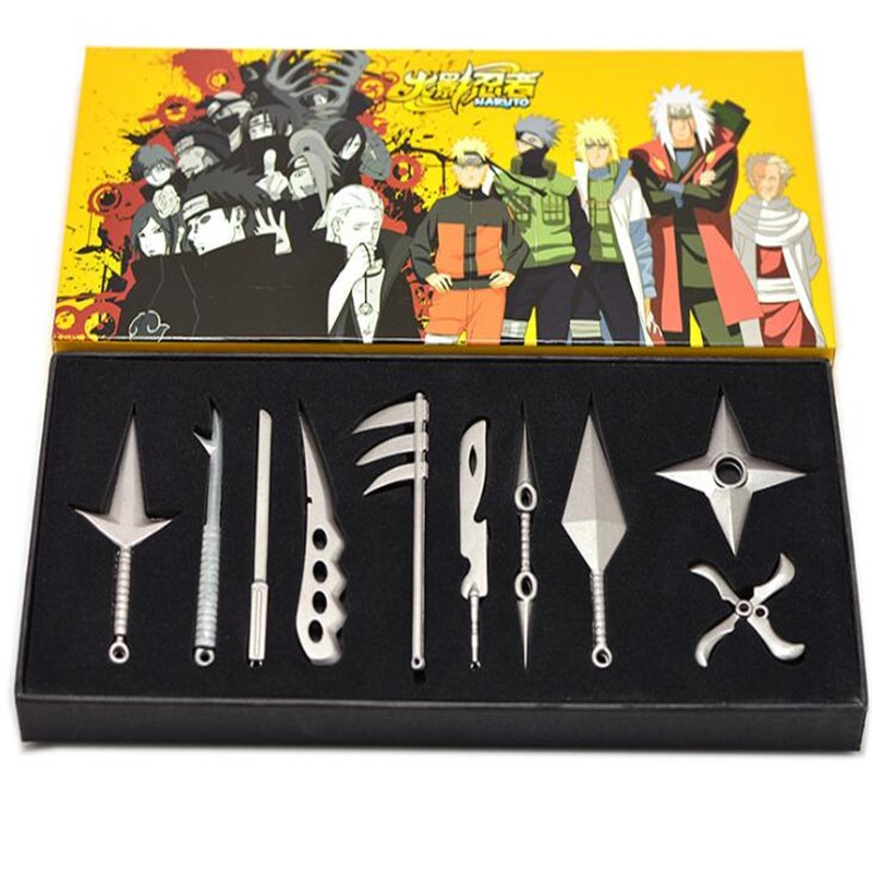 Naruto Kunai Knife Throwing Naruto Weapon Toys Ninja throwing knifes knife Metal Toy Sword Cosplay Weapons A747