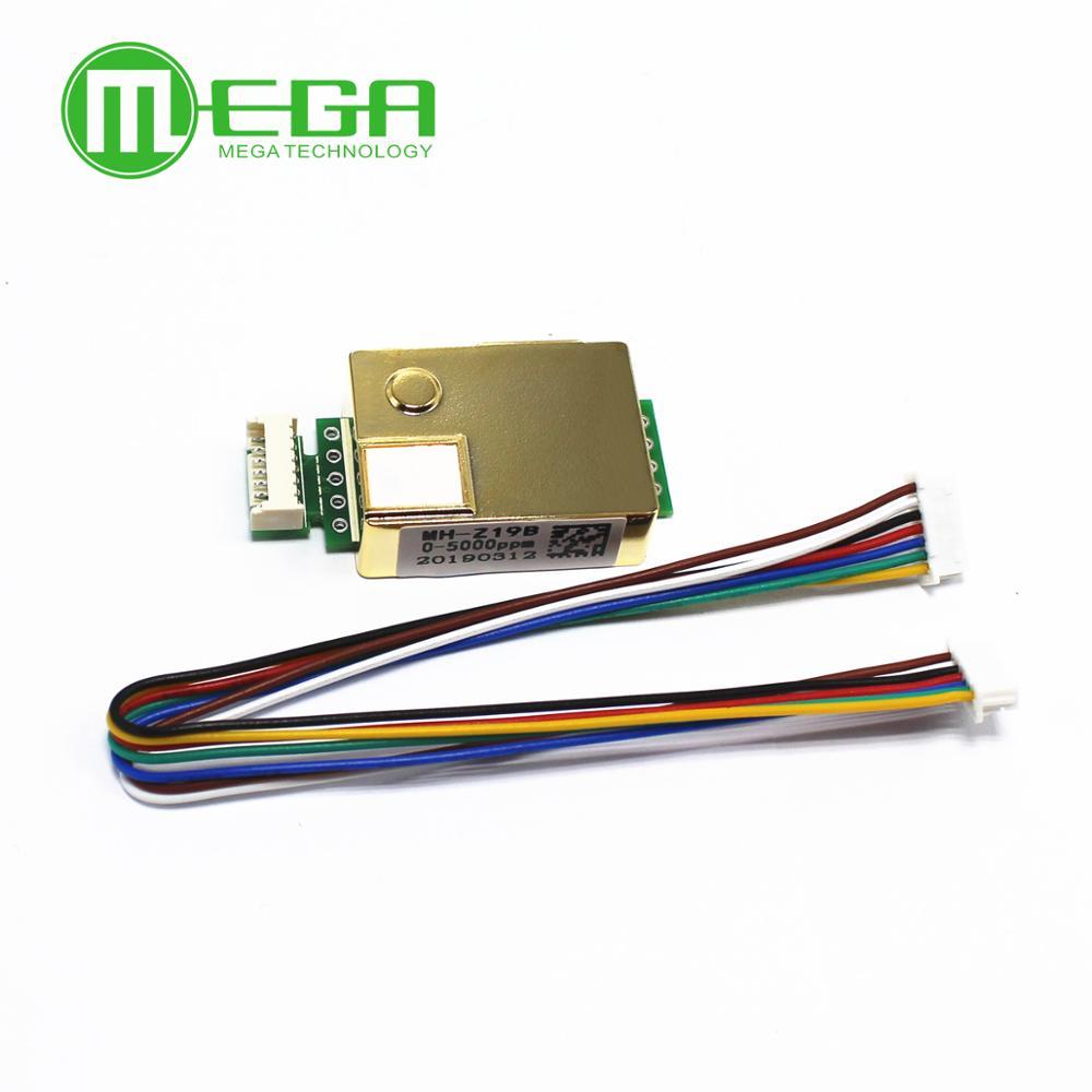 MH-Z19 MH-Z19B infrarrojos co2 sensor para co2 monitor dióxido de carbono sensor UART PWM salida serie 0-5000PPM