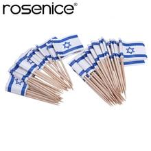 ROSENICE 100 stücke Flagge Picks Israel Flagge Essen Zahnstocher Party Zubehör 3,5x2,5x6,5 CM