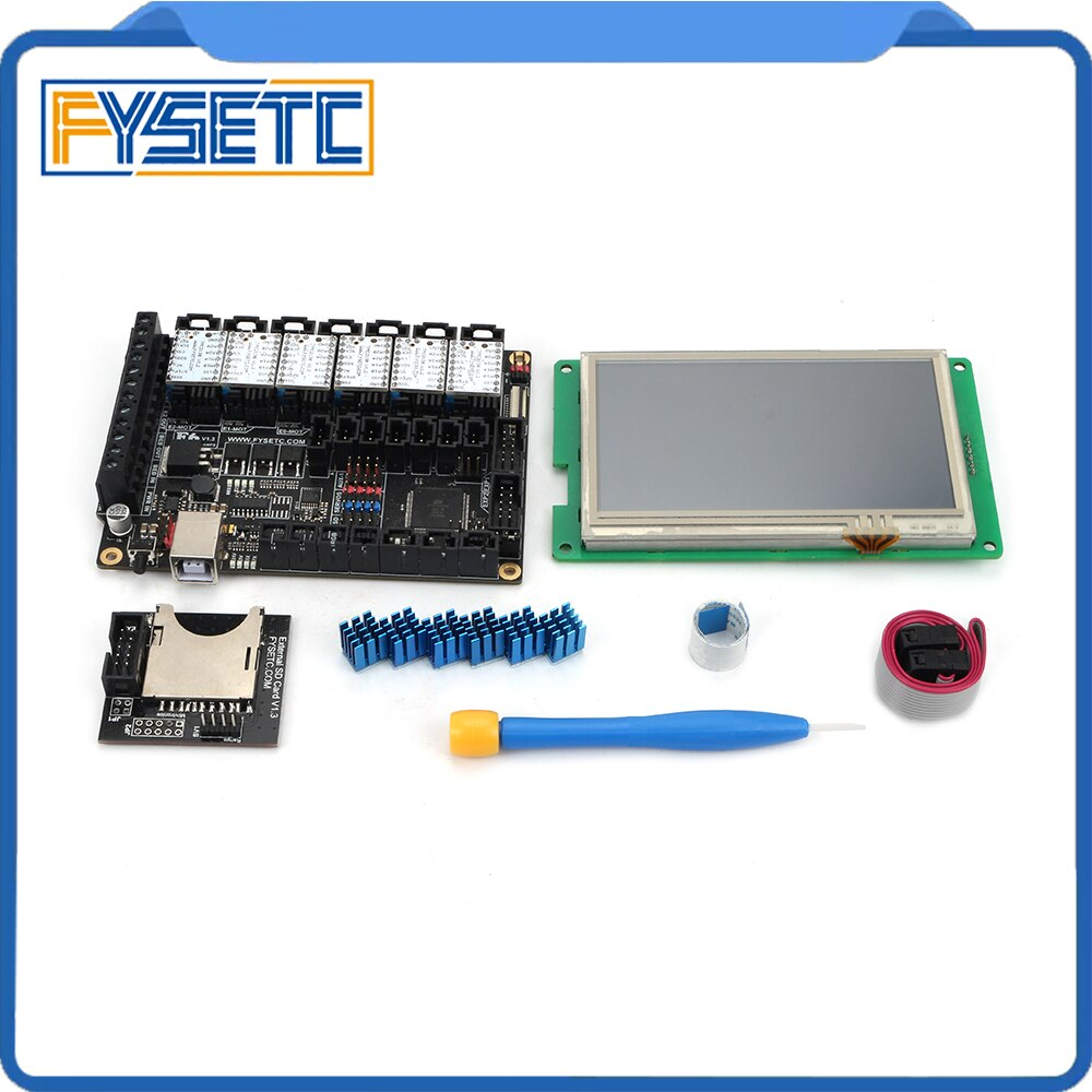 """FYSETC F6 V1.3 ALL-in-one Mainboard + 4.3"""" Touch Screen + 6pcs TMC2100/TMC2208 /TMC2130 v1.2/DRV8825/S109/A4988/ST820"""