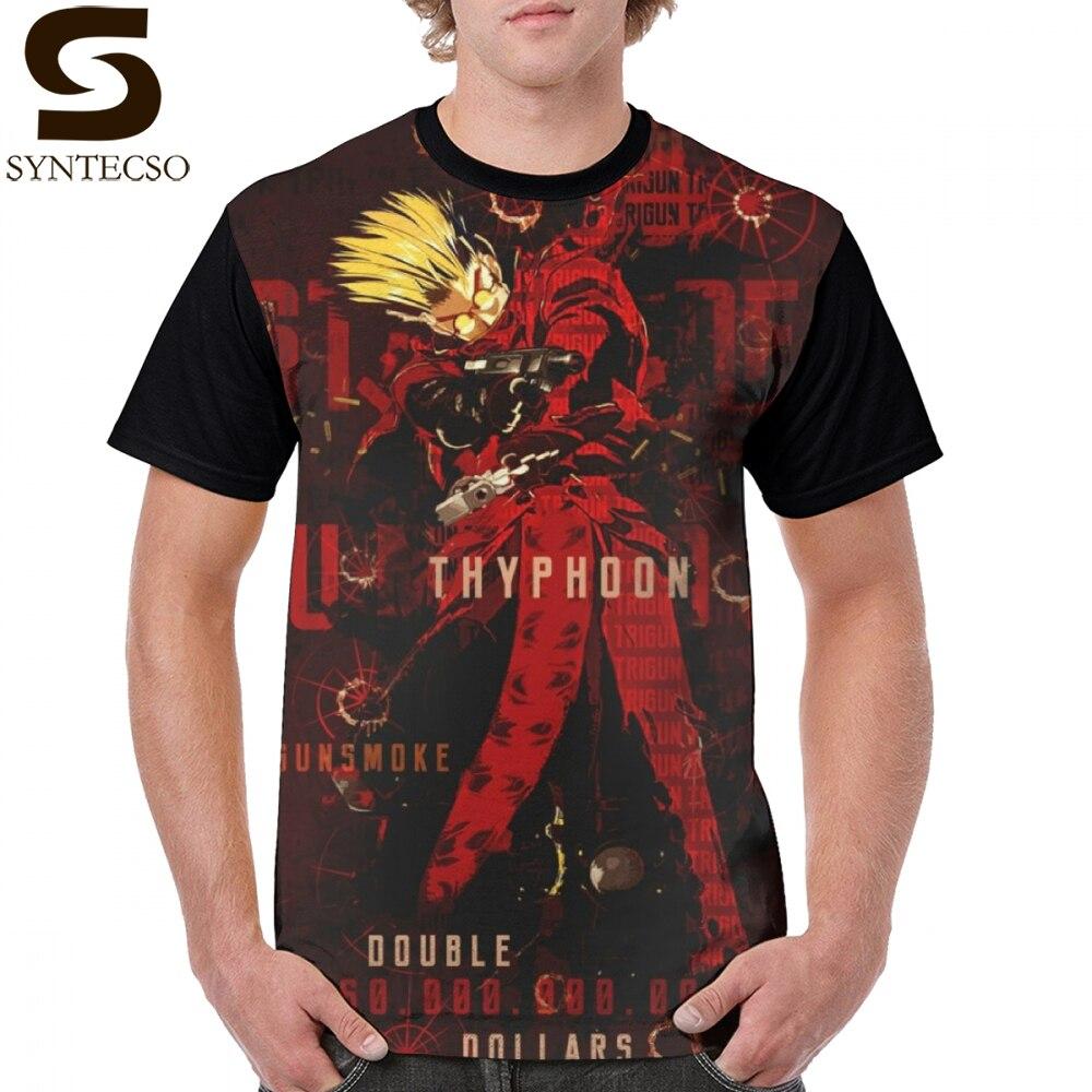 Trigun T Hemd Humanoiden Thyphoon T-Shirt Gedruckt Kurzen Ärmeln Graphic Tee Shirt 100 Polyester XXX Mann Casual Spaß T-shirt