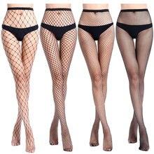 Kobieta modna siatka czarna prosta Hollow out sexy rajstopy damskie rajstopy stocking slim pończochy kabaretki club party wyroby pończosznicze