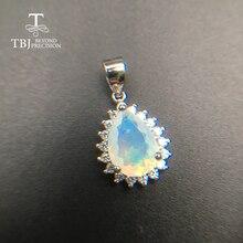 TBJ, colgante natural de Plata de Ley 925, joyería fina simple para mujeres, bonito regalo