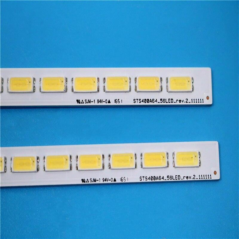 10 peça 56LED 493 MILÍMETROS Novo LJ64-03514A CONDUZIU a lâmpada tira 2012SGS40 7030L 56 REV 1.0