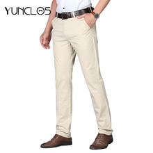 Mode nouveau haute qualité lin hommes pantalon droit printemps été Long mâle classique affaires pantalon décontracté pleine longueur costume pantalon