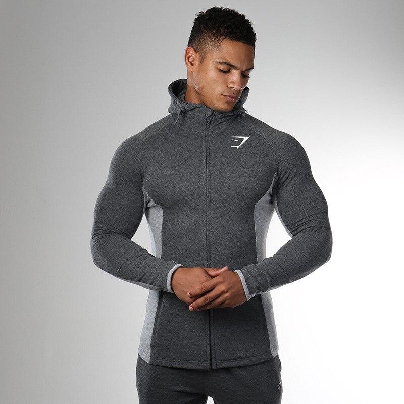 2020 Otoño e Invierno nueva chaqueta de medias elásticas para hombres deportes al aire libre con capucha chaqueta rompevientos para correr hombre W631