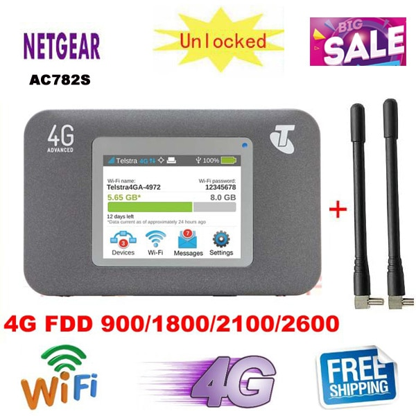 Original desbloqueado 150Mbps Netgear Wireless Aircard 782 AC782S 4G LTE FDD móvil WiFi 4G Router WiFi PK 760S 754S