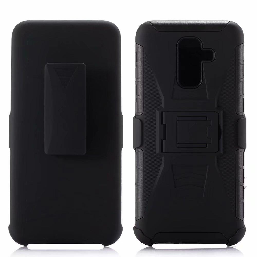 A prueba de golpes a prueba de servicio pesado armadura dura funda con Clip para el cinturón para Samsung Galaxy A6 2018/A6 PLUS 2018