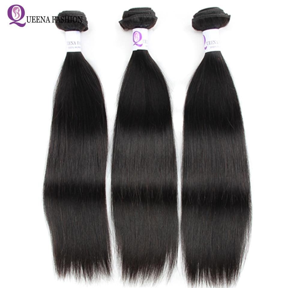 Камбоджийские прямые пучки волос натуральный цвет 8-28 дюймов не Remy волосы для наращивания 100% человеческие волосы ткачество можно купить 3 ил...