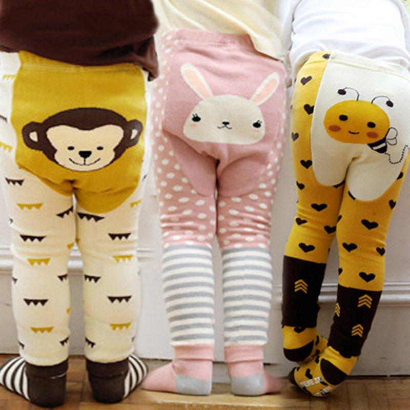 Otoño Bebé Pantalones largos pantalones de bebé niñas niño polainas, ropa de niño recién nacido Harlan de dibujos animados pantalón ropa de bebé chica para 0-7years