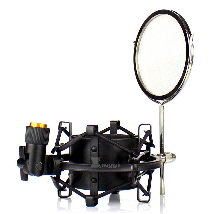 60mm Metall Spinne Mikrofon Windschutz Filter Shock Mount Mic Stand Halter Für Neumann M 147 269 TLM 103 50 127 170 U 87 Ai 67