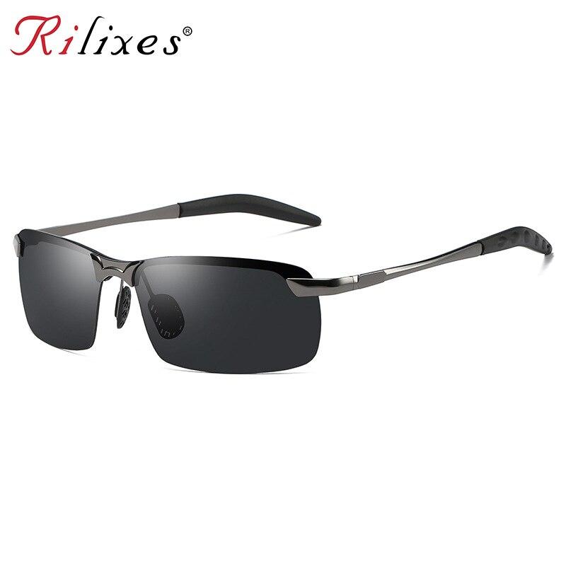 New Fashio Men's Polarized Sunglasses Aluminum Magnesium Frame Car Driving Sun Glasses 100% UV400 Po