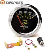 CNSPEED 12V Car Auto Oil Pressure Gauge 0-80 PSI 52mm 2inch Mechanical Car Oil Press Meter Oil Pressure Sensor Pointer YC101133