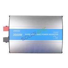 Onduleur solaire sans grille 2000W   Onduleur électrique, 24V ou 48 vdc à AC110V ou 220V, onde sinusoïdale Pure, onduleur solaire hors réseau 50Hz/60Hz, CE