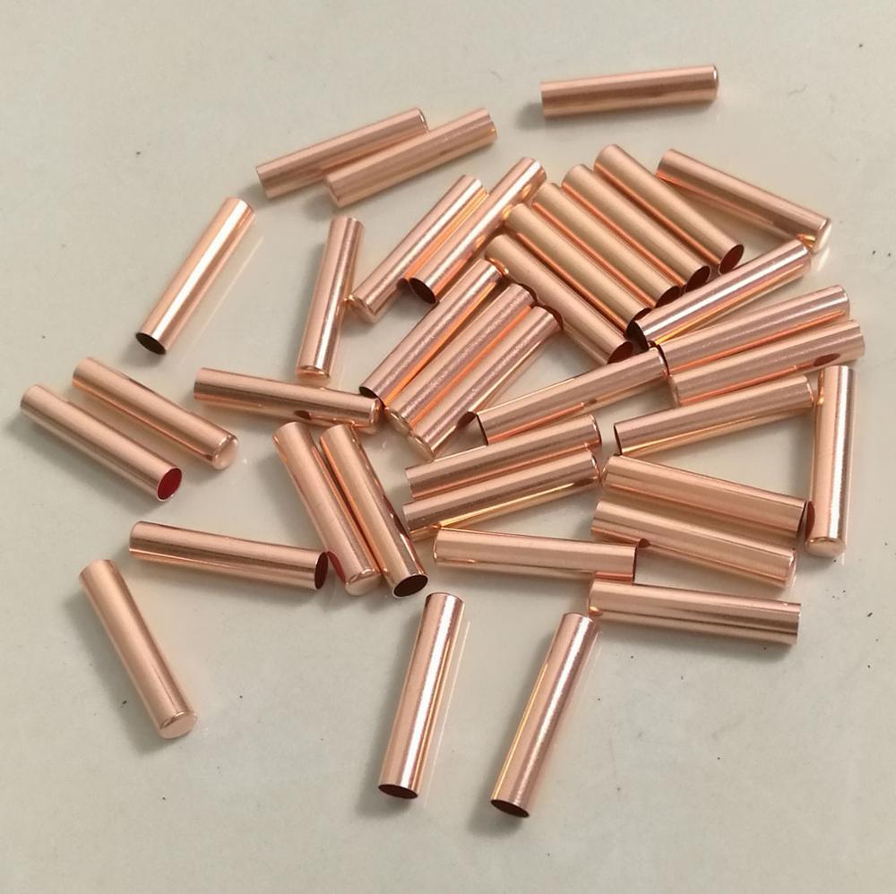 30 peças, 6mm * 30mm uma extremidade fechado ntc sensor de temperatura sonda proteção escudo pt100 ds18b20 tubo de cobre puro