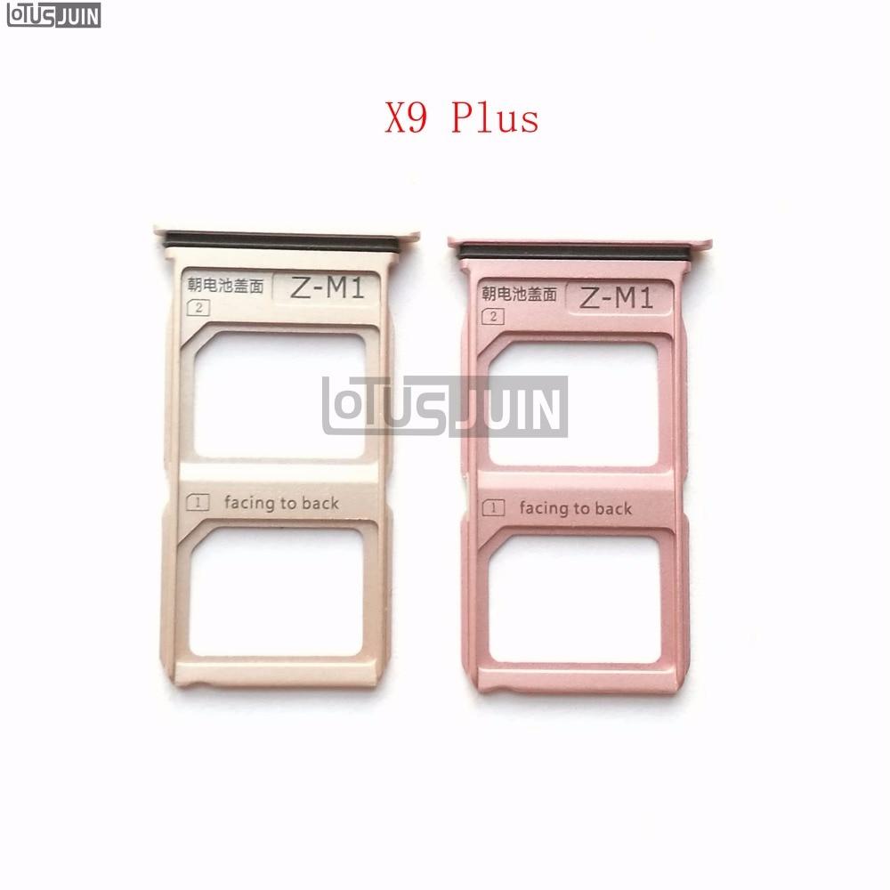 10 Uds nuevo para VIVO X9 Plus bandeja de tarjeta SIM soporte de tarjetas Micro SD piezas de repuesto de ranura