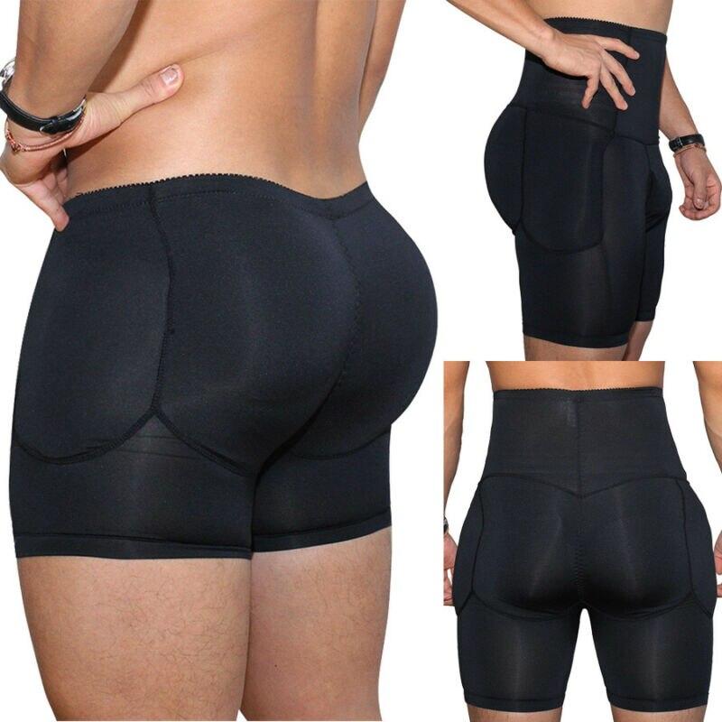 2019 Yeni Sıcak Erkekler Popo ve Kalça Artırıcı Ganimet Yastıklı Iç Çamaşırı Külot Vücut Şekillendirici Dikişsiz Butt Kaldırıcı Külot Shapewear Boksörler