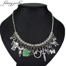 Feimeng bijoux film collier ras du cou feuille elfique Arwen Evenstar pendentif épée vert porte médaillon étoile collier mode Acc