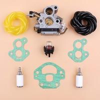 Carburetor Gasket Fuel Hose Filter Kit For Husqvarna 135 140 435 435e 440 440e Jonsered CS410 CS2240 CS2240S Gas Chainsaw Spares