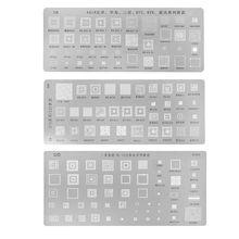Haute Qualité 3 pièces universel Pochoirs BGA pour MTK Samsung HTC Huawei Android Directement Chauffée BGA Kit De Pochoirs