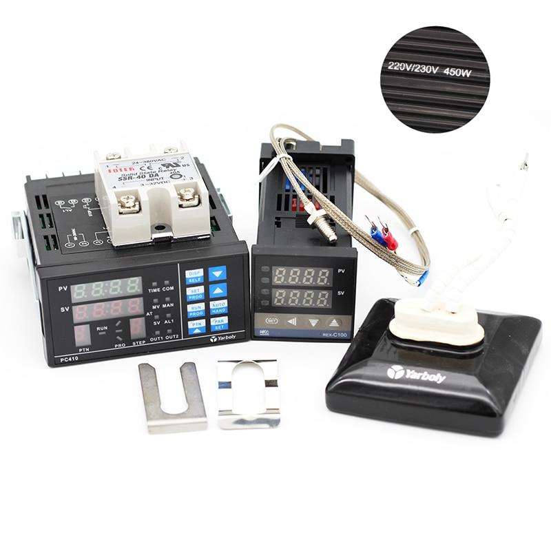 PC410 PID контроллер температуры панель + REX-C100 + Макс. 40A SSR + K термопара зонд + керамическая Тепловая пластина для паяльной станции BGA