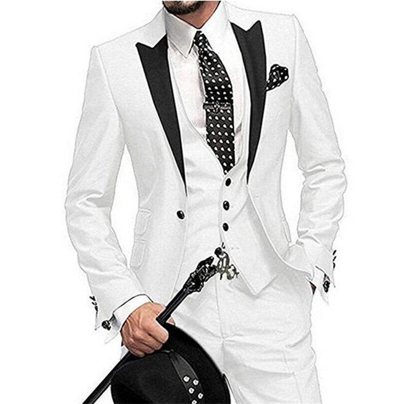 2019 últimos diseños de pantalón y abrigo verde traje de los hombres Slim Fit 3 piezas chaqueta de esmoquin trajes de estilo de novio personalizado blazer fiesta de graduación Terno